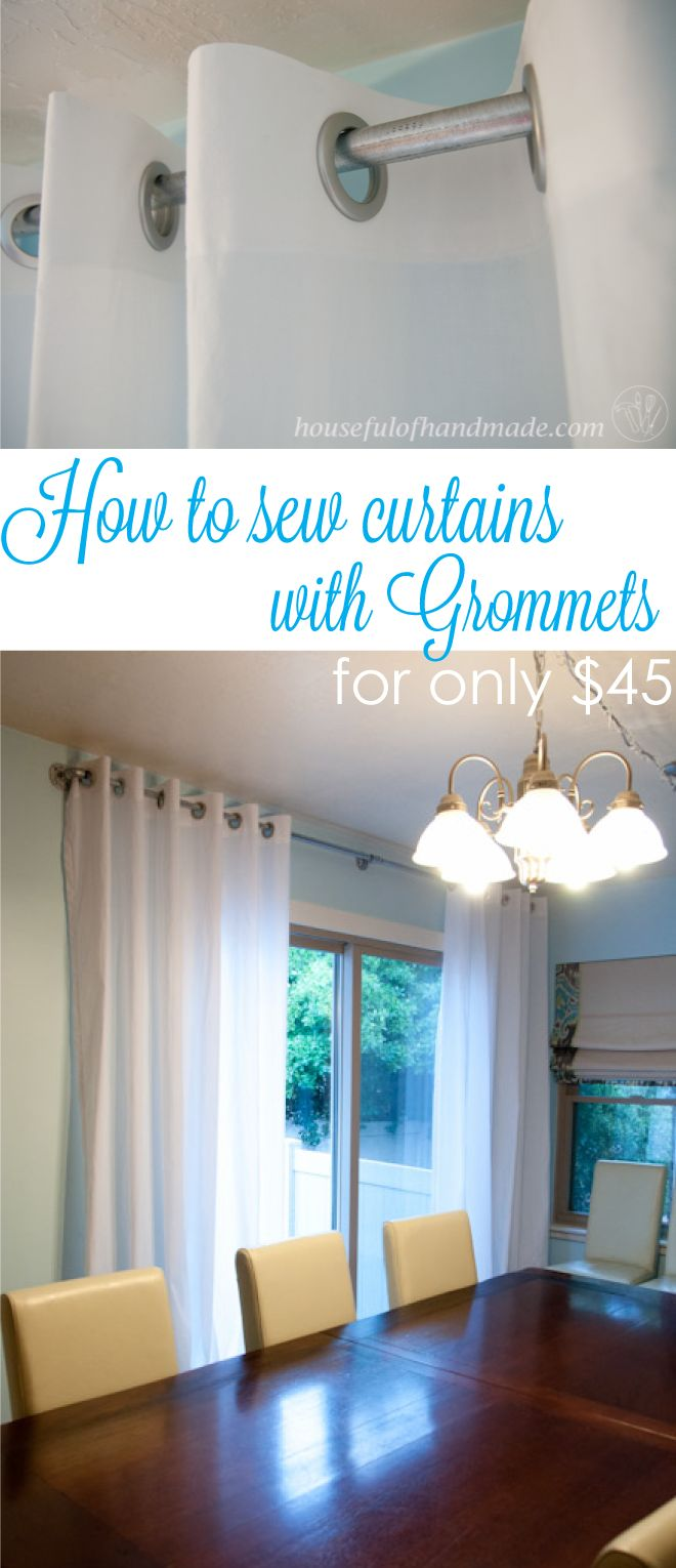 How to Sew Curtains with Grommets for
