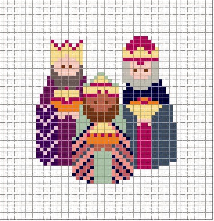 reis em ponto cruz - Pesquisa Google