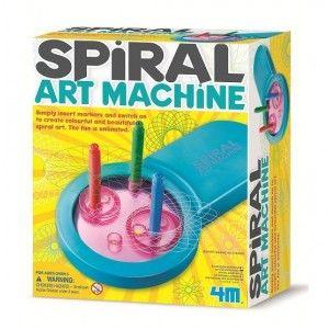 ΜΗΧΑΝΗ ΣΠΕΙΡΟΕΙΔΟΥΣ ΤΕΧΝΗΣ Χρησιμοποίησε τη μηχανή σπειροειδούς τέχνης και τους μαρκαδόρους που περιέχονται στη συσκευασία για να δημιουργήσεις υπέροχα σχέδια. Άλλαξε θέση στους μαρκαδόρους και αμέσως μπορείς να δημιουργήσεις άπειρα νέα σχέδια στο χαρτί! Η διασκέδαση είναι απεριόριστη. Περιέχονται οδηγίες στα Ελληνικά.