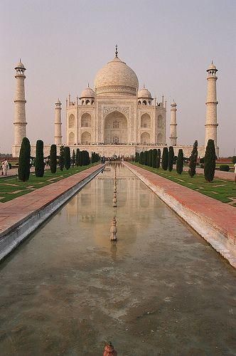 The Taj Mahal, Agra, India. Visited here when I was a child and we travelled to India for 3 months.