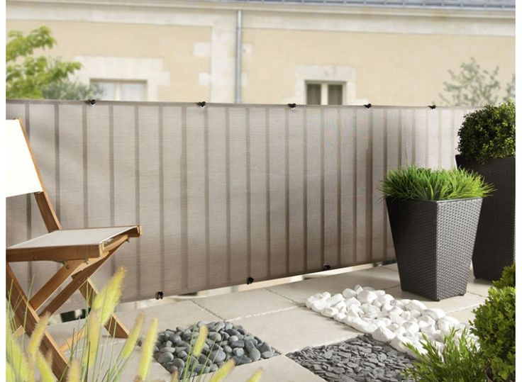 Brise vue pour cl ture everly en rouleau gris nortene 5 m for Cloture de jardin en toile