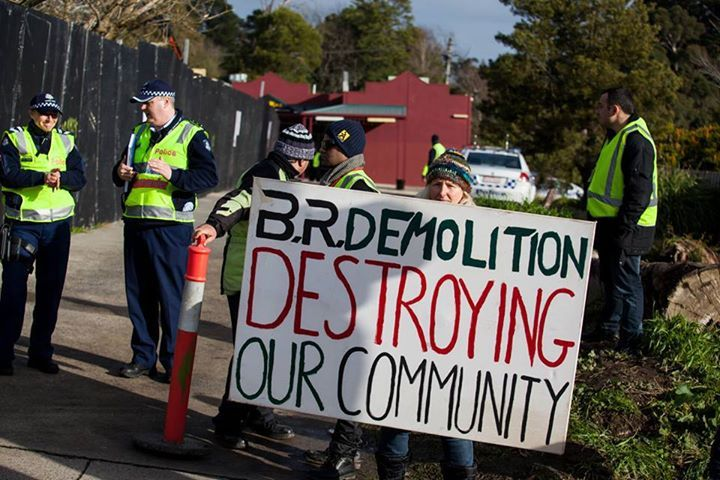 Demolishing a COMMUNITY. What PR this is for McDonalds - investing in communities = well, it's not invited!