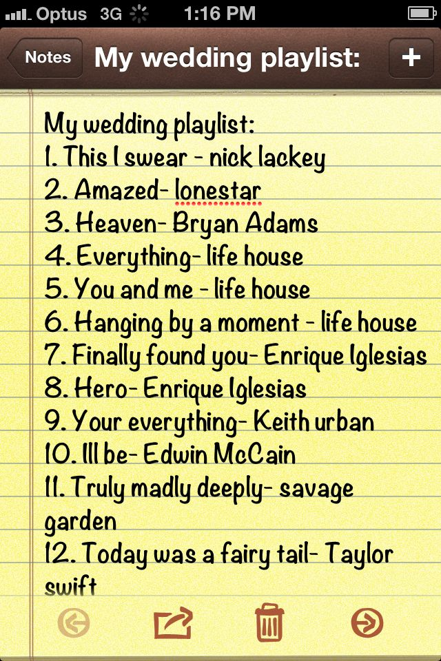 A few good songs for the wedding playlist Wedding songs