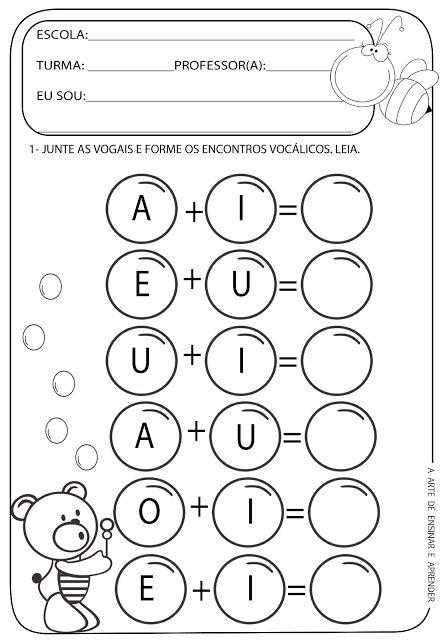 A Arte de Ensinar e Aprender: atividade com encontro vocálico