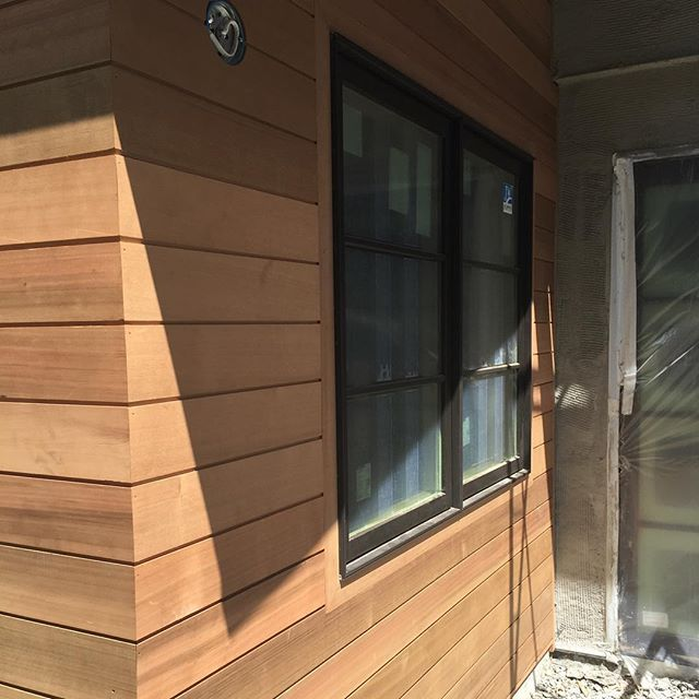 Cedar Siding Shiplap Bronze Clad Windows Lorodesigns Addisonproject House Exterior Vertical Siding Wood Siding