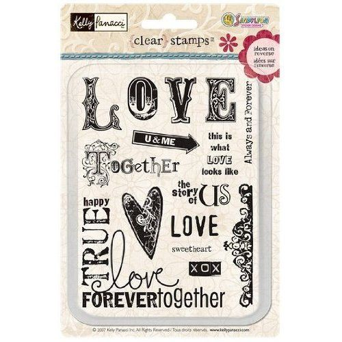 Kelly Panacci Clear Stamps Rubber Stamps  Love Stamp by AkornShop, $9.95