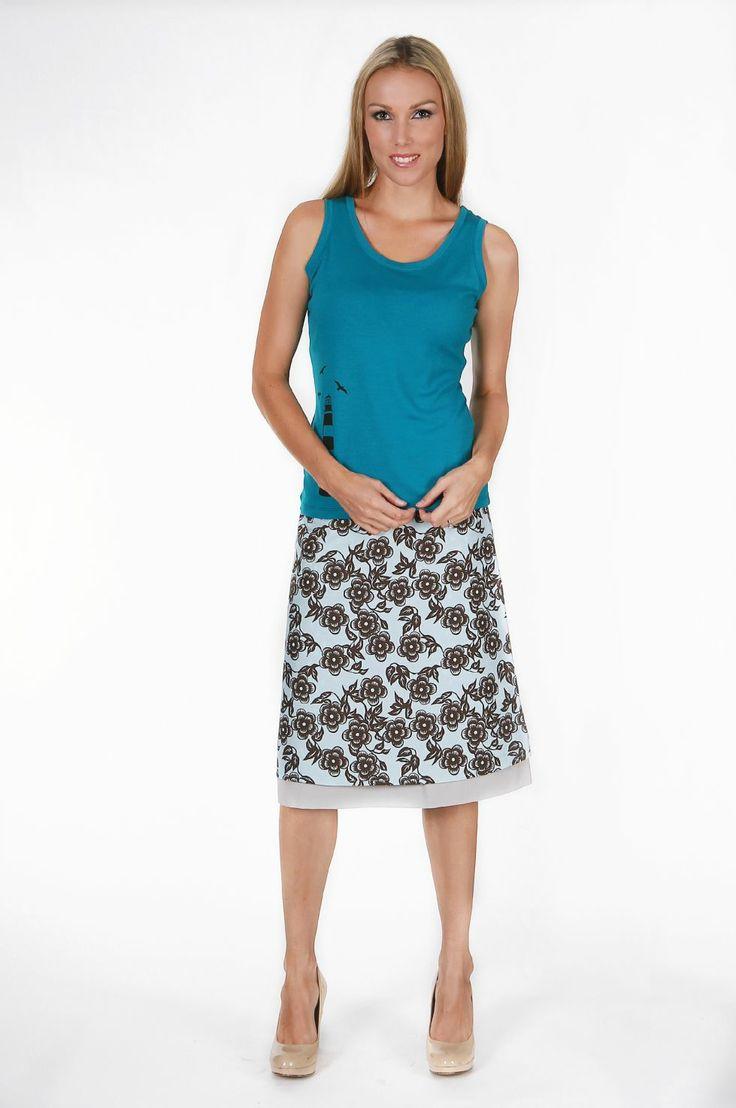 Vine Dots Reversible Skirt