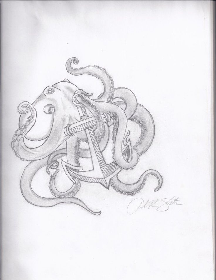 """This is kind of like what I want my first tattoo to be. It's going to be on my chest and have an octopus grabbing an anchor and say """"I refuse to sink"""""""