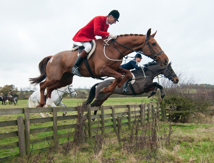 Joss and Nicky Hanbury, Quorn Hunt at Cold Newton