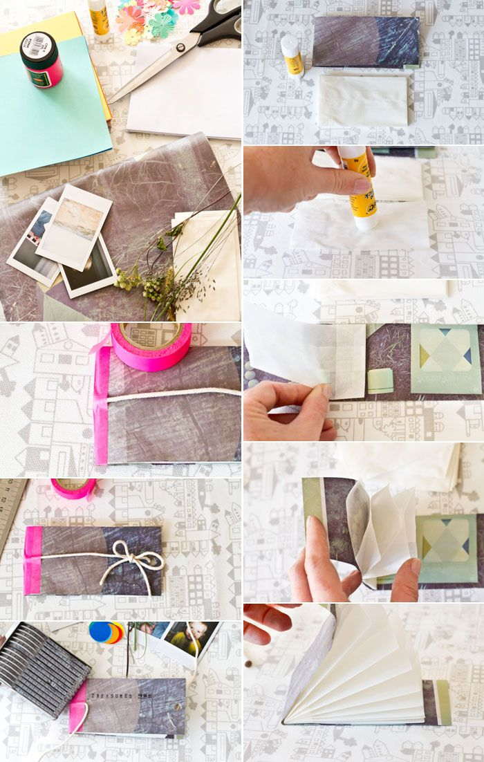 Book_mix . This site is amazing, tons and tons of original paper craft projects.  Love this one... a little treasure book for my kids special findings.