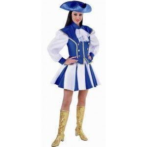 Costume déguisement majorette adulte robe avec jupe bleue et blanche qualité deluxe de Magic by Freddy's. http://www.baiskadreams.com/2940-costume-majorette-femme-bleu-blanc-deguisement-deluxe.html
