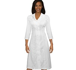 "ViVi By Med Couture Vivian 3/4"" Sleeve Dress - Women's Scrub Dresses & Skirts - Marcus Uniforms"