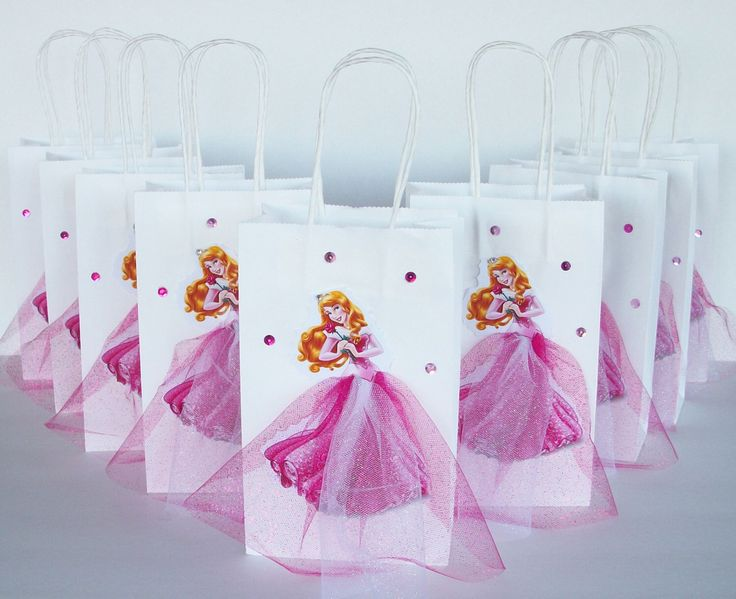 INSPIRED Princess Aurora Disney Sleeping Beauty  Birthday Party inspired 12pc Favor Goody Gift 3D Bags hand made real picture by felsonmiguelina on Etsy https://www.etsy.com/listing/214184519/inspired-princess-aurora-disney-sleeping