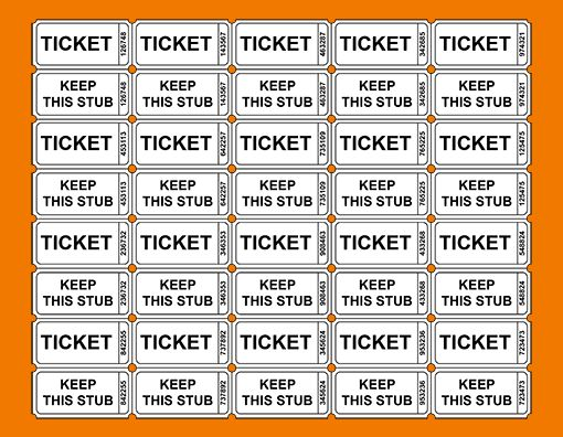 Free Printable Raffle Ticket Templates – Blank Downloadable PDFs