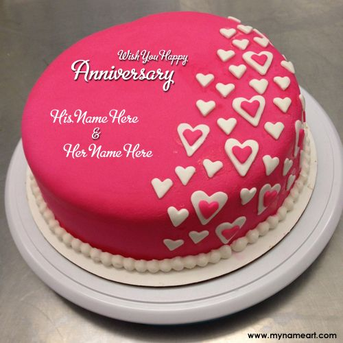 "Latest wedding anniversary wishes ""wish you both a very happy marriage anniversary"" greetings card image with my name online create. Make couple name red anniversary cakes picture free online with your name edit. anniversary cakes for husband & wife, brother and bhabhi, didi n jiju, sister and jiju, mom and dad."