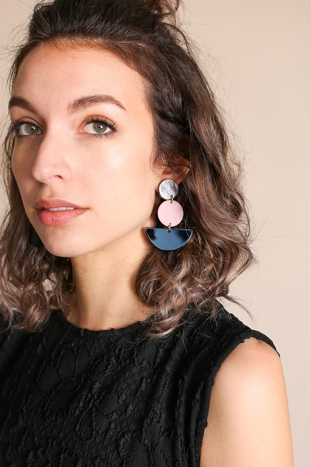 Rachel Comey Neale Earring In Pink Black By Vert Vogue