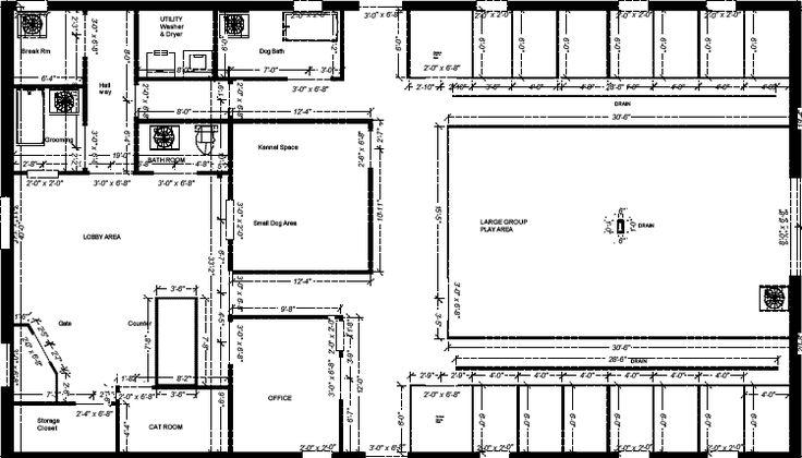 Best dog boarding kennel building kennel for sale ga for Grooming shop floor plans