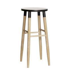 Hübsch / Barová stolička Nature/black