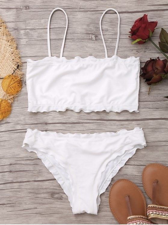 bfc689ef69647 Up to 80% OFF! Lettuce Trim Cami Bikini Set. #Zaful #Swimwear #Bikinis  zaful,zaful outfits,zaful dresses,spring outfits,summer dresses,Valentine's  Day ...