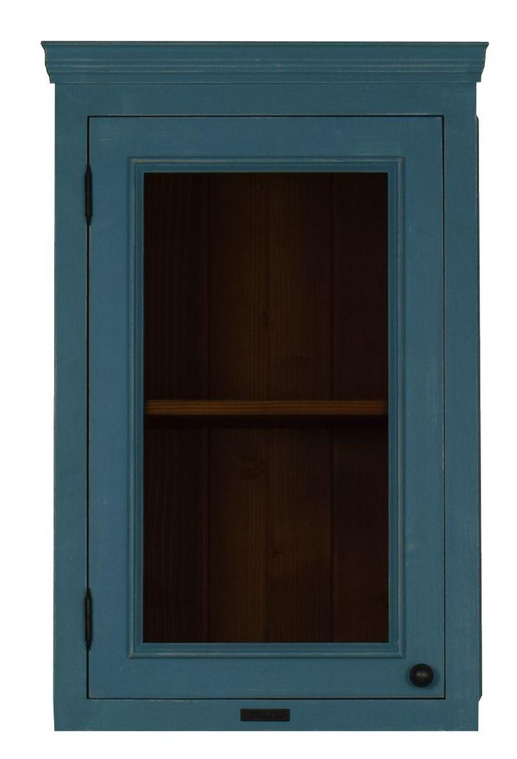 MMW F1 B 40 cm széles felső szekrény üveges balos ajtóval | My Mood Wood