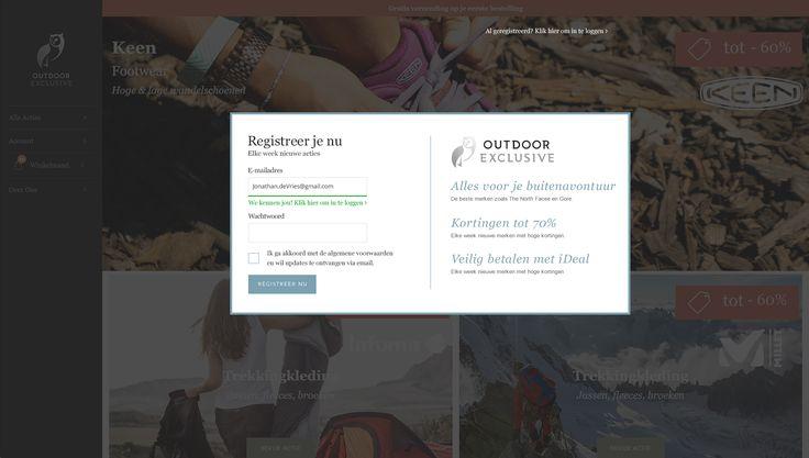 Outdoor-Exclusive.com - Design loginwall