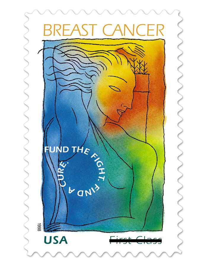 PLEASE support Breast Cancer Research: Buy First-Class Semipostal 55¢ Stamps from USPS.com. These have raised 76 million dollars in research funds so far!