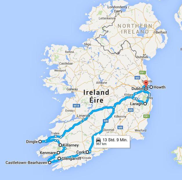 Google Sudroute Irland Reise Irland Irland Rundreise