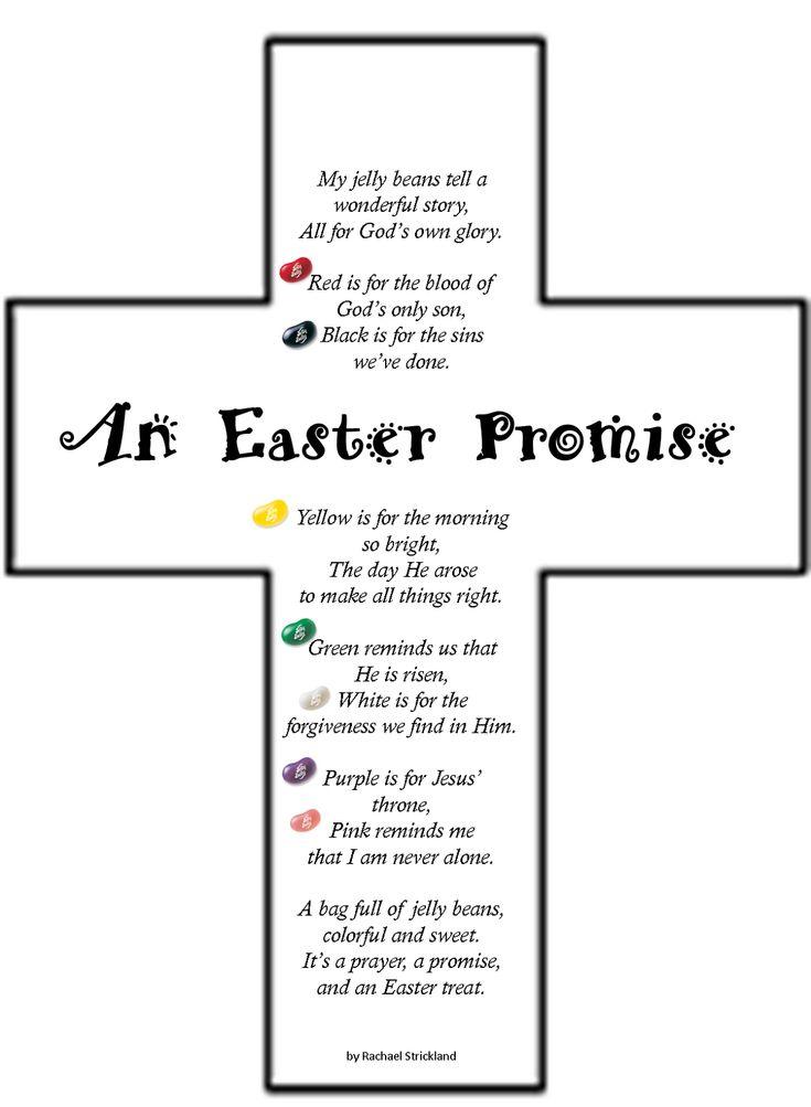 Easter Jelly Bean Poem on Cross: An Easter Promise