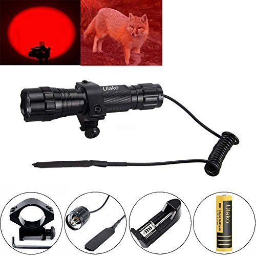 Ulako Red Light LED Coyote Hog Pig Varmint Predator Hunting Flashlight for Picatinny Weaver Rail Air gun AR15 Review https://besttacticalflashlightreviews.info/ulako-red-light-led-coyote-hog-pig-varmint-predator-hunting-flashlight-for-picatinny-weaver-rail-air-gun-ar15-review/