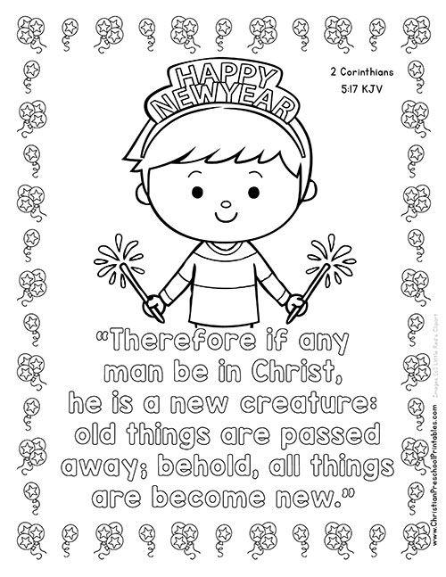 New Year 39 s Bible Printables Christian Preschool