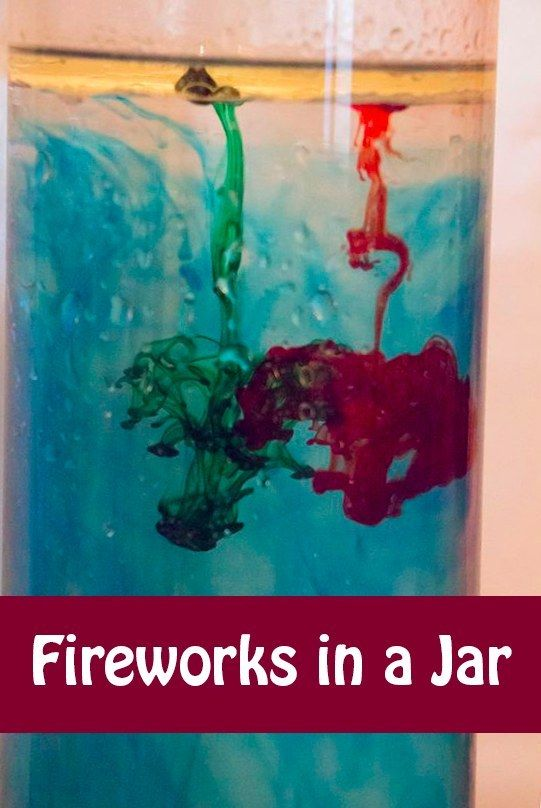 Make fireworks in a jar using water, oil, and food coloring. | 37 Activities Under $10 That Will Keep Your Kids Busy On A Snow Day
