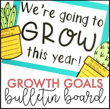 Get your students setting goals for the new school year AND creating a beautiful bulletin board with this kit! Product includes a low-prep version as well as a craftivity version if your students are up for a little cutting and gluing!There are multiple headings included in both large, multi-page versions, as well as one-page versions: We're going to GROW this year!