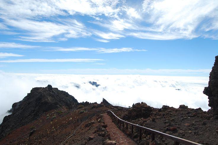 Chodzenie w chmurach :-) na La Palmie. Caldera de Taburiente