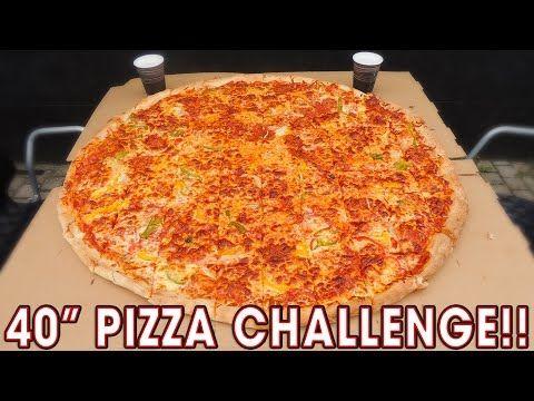 "SCOTLAND'S BIGGEST 40"" PIZZA CHALLENGE!! - YouTube"