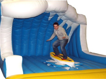The Big Wave Inflatable bed is a stunning looking themed inflatable bed for the surf machine. It totally enhances the ride giving it a real surf look. http://www.therodeobullcompany.com/Big-Wave-Inflatable-Bed.html