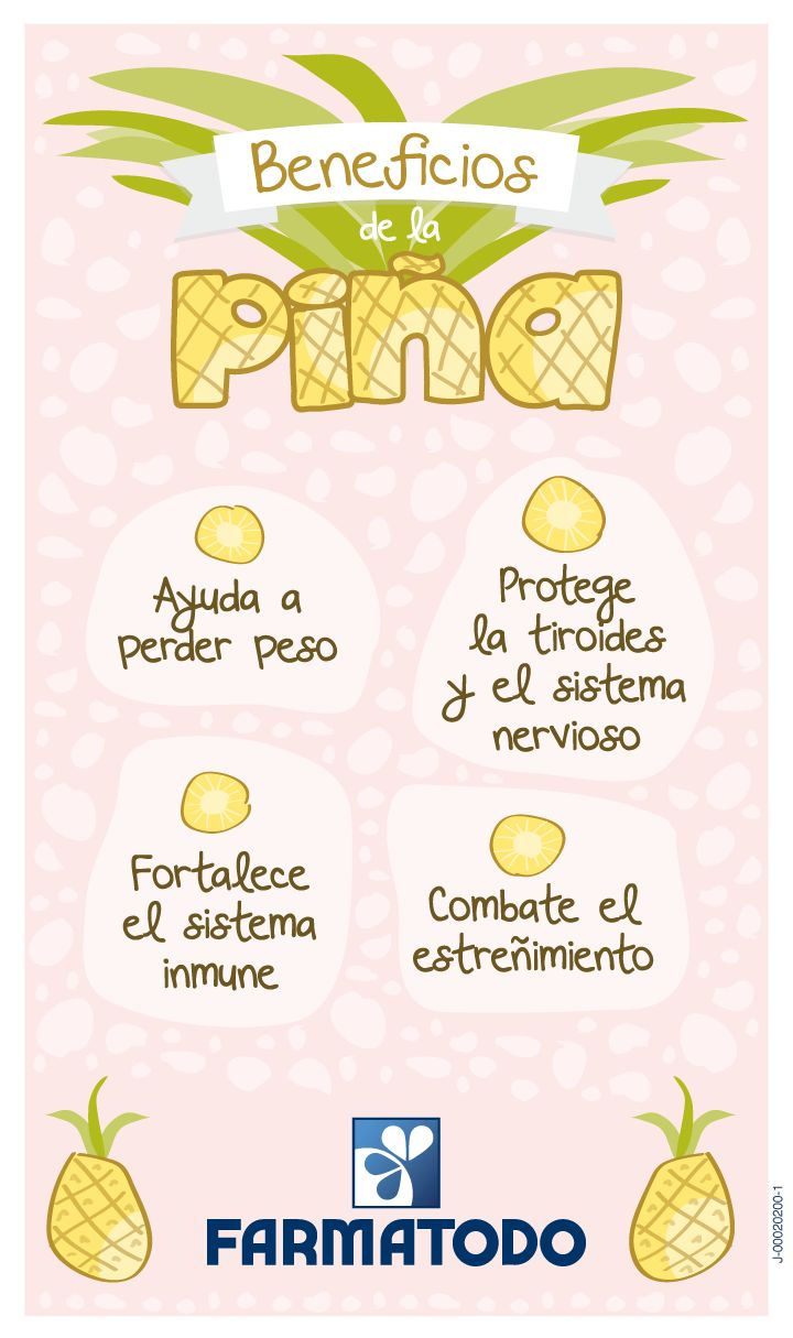Conoce los beneficios de la #Piña. #Salud