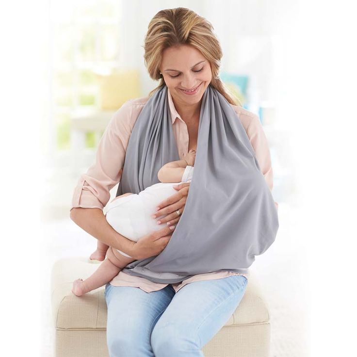 The NüRoo Nursing Scarf - the perfect baby shower gift for new moms and baby - breastfeeding cover and scarf in one