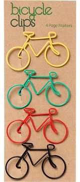 Bicycle Clips - eclectic - desk accessories - Paper Source