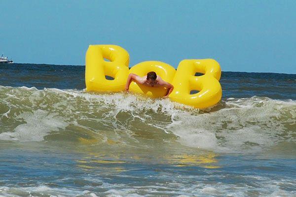jouw merk in de zee