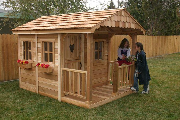 sunflower 6x9 cedar playhouse with sandbox 2