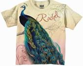 Peacock Baby Girl Onesie Personalized Girl by SimplySublimeBaby @nikki read