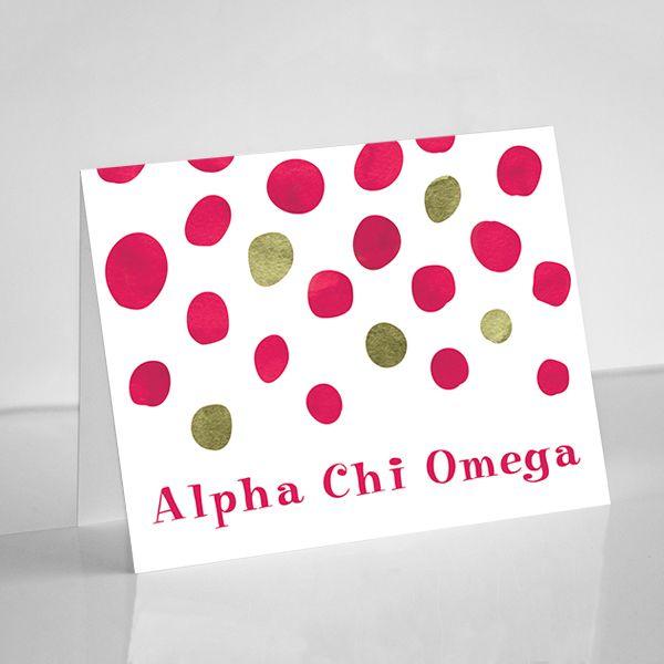 Alpha Chi Omega Dot Notecards