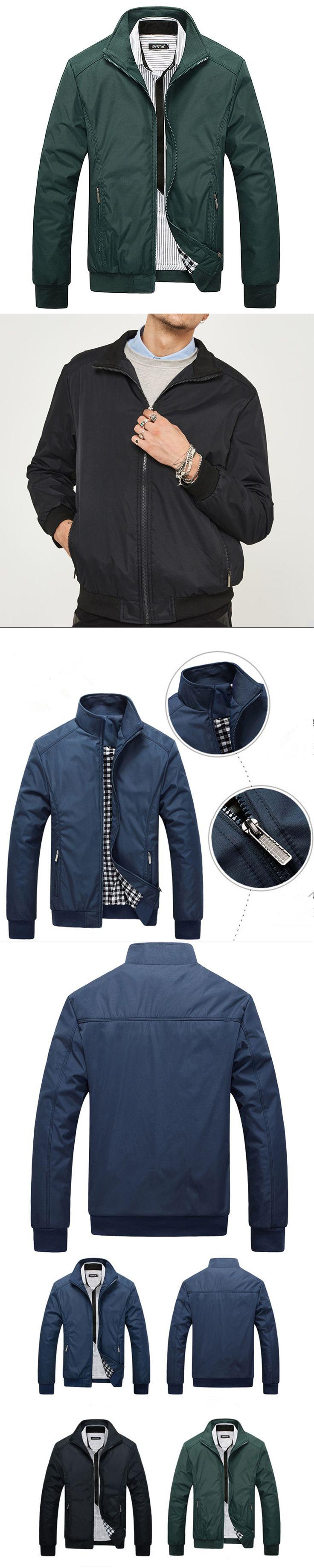 Men's Fashion Casual New Man Mandarin Collar Jacket Autumn Male Jacket Overcoat Clothing