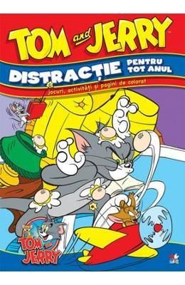 Tom si Jerry - Distractie pentru tot anul - Jocuri, activitati si pagini de colorat - 14.90 lei