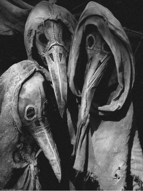 Plague doctors' masks