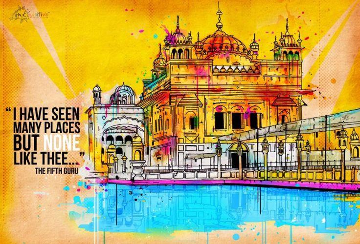 Harmandar Sahib Golden Temple - Inkquisitive illustrations By Inquisitive 😍