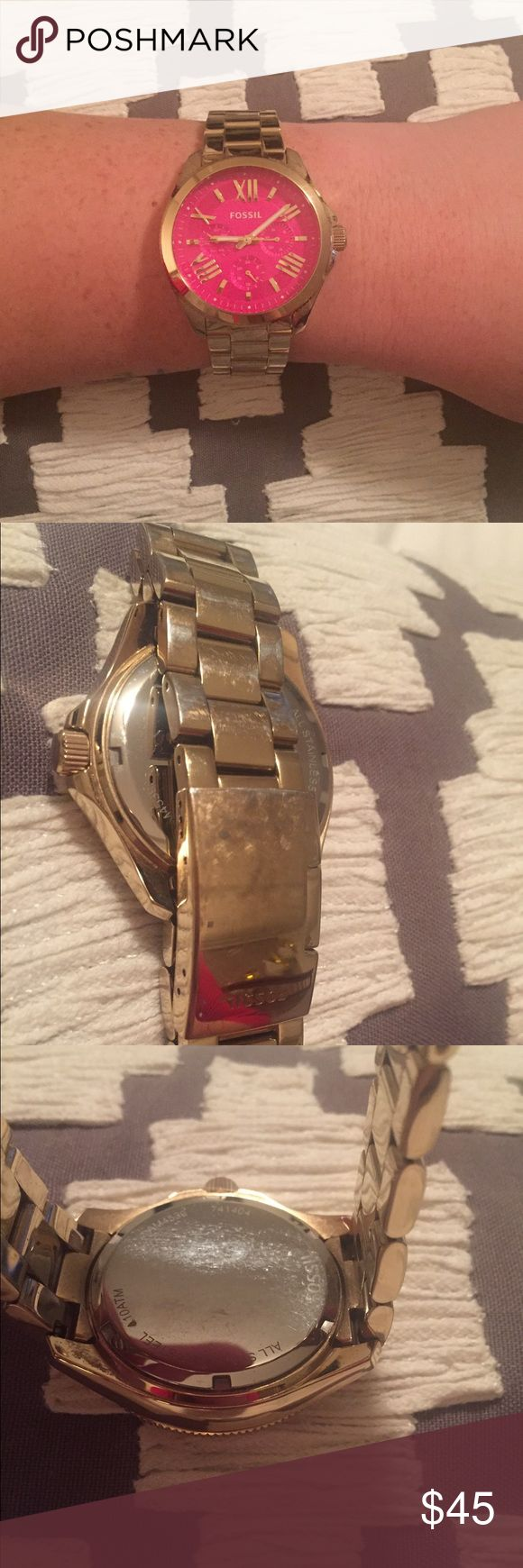 Fossil Watch I do not trade. Wear shown. Sold as is. Battery works. Fossil Accessories Watches