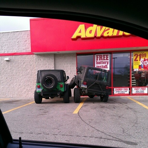 "I see one wrangler consoling another during hard times in their lives... Alex sees ""omg look at that flex!"""