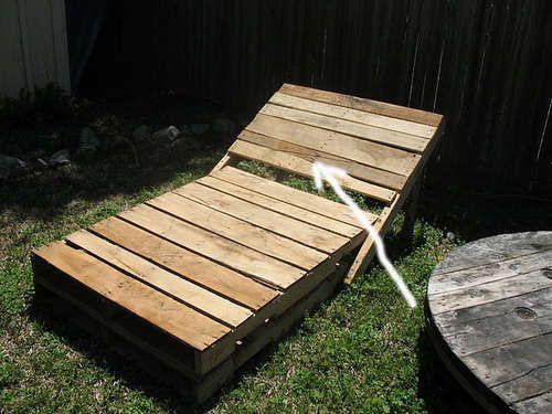 Pallet garden lounge chairs
