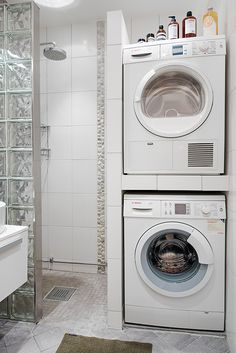 Image result for basement bathroom shower washing machine grey